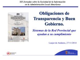 Obligaciones de Transparencia y Buen Gobierno