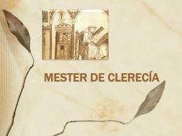 MESTER DE CLERECÍA. 4ppt