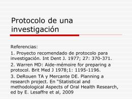 Protocolo de una investigación