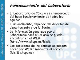 Laboratori Càlcul LSI (UPC) Set-2000
