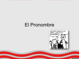 El Pronombre - Colegio Monte de Asís