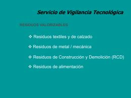 Vigilancia tecnológica sobre tecnologías limpias