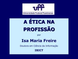 Palestra sobre ética na UFF