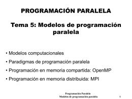 Modelos de computadores paralelos.