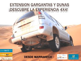 EXTENSION MARRAKECH gargantas y dunas 6 DIAS