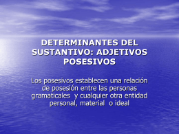 Presentazione Posesivos - DEU-NA
