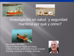 Epidemiological research in maritime health and safety