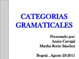 CATEGORIA GRAMATICALES - religionylectoescrituradigital