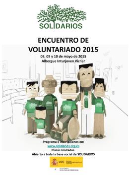 programa del encuentro - Solidarios para el Desarrollo