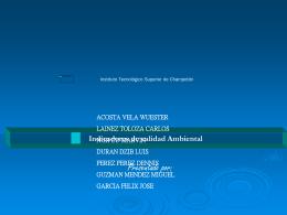 Indicadores de Calidad Ambiental - Instituto Tecnológico Superior