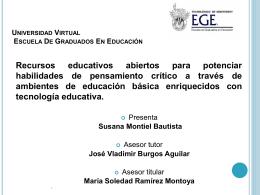 Montiel Presentacion - Cátedra de investigación e innovación en
