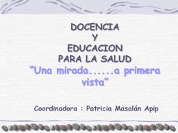 Docencia y Educación para la Salud