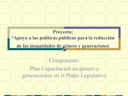 """""""Apoyo a las políticas públicas para la reducción"""