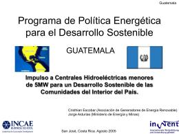 Programa de Política Energética para el Desarrollo Sostenible