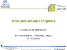 Ideas para acciones conjuntas