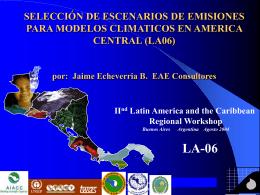 selección de escenarios de emisiones para modelos climaticos en