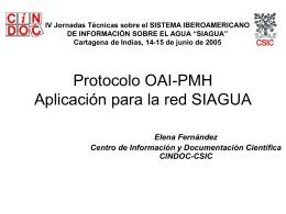 Elena Fernandez-Protocolo OAI-PMHAplicación para la