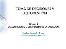 Módulo II DESCUBRIMIENTO Y DESARROLLO DE