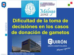 ENRIQUE PEREZ - DONACION DE GAMETOS