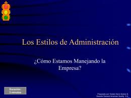 Los Estilos de Administración