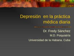 Depresión en la práctica médica diaria