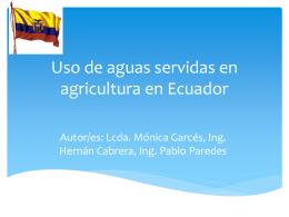 Uso de aguas servidas en agricultura en (nombre del país)