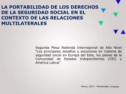 Acuerdo Multilateral de Seguridad Social MERCOSUR