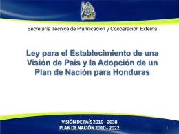 Plan de Nación - Agenda Forestal Hondureña