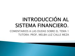 INTRODUCCIÓN AL SISTEMA FINANCIERO.