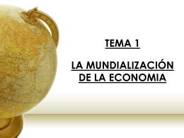 La mundialización de la economía
