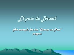 El país de Brasil