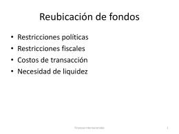 Reubicación de fondos