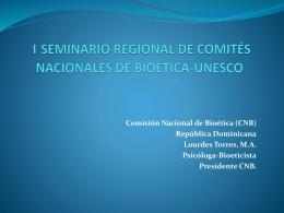 seminario regional de comités nacionales de bioética