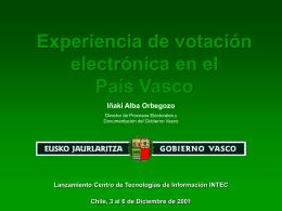 Experiencia de votación electrónica en el País Vasco