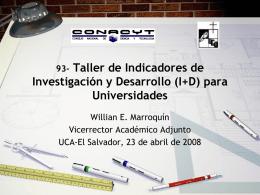 (I+D) para Universidades - Consejo Nacional de Ciencia y Tecnología