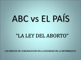 ABC vs EL PAÍS