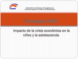 Nicaragua 2005 Situación del país y de la niñez