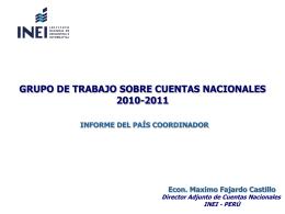 grupo de trabajo sobre cuentas nacionales 2010