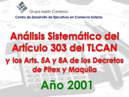 Articulo 303 TLCAN diapositiva