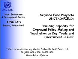 Segunda Fase del Proyecto DFID, Componente de