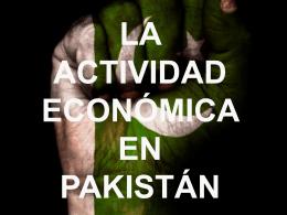 Actividad económica en Pakistán (pdf)