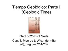 Tiempo Geológico (Geologic Time)