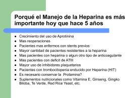 Manejo de la Heparina