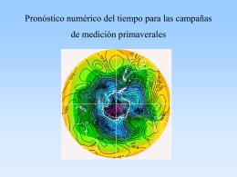 Pronóstico numérico del tiempo para las campañas de medición