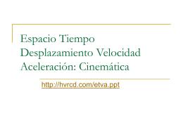 Cinemática Espacio Tiempo Desplazamiento Velocidad