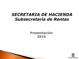 ¿quiénes componen la subsecretaría de rentas?