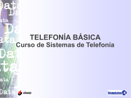 Telefonía Básica