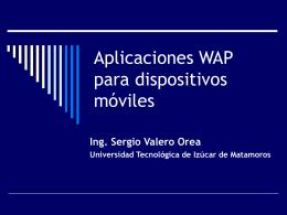 Aplicaciones WAP para dispositivos móviles