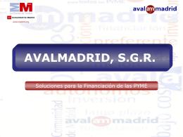 AVALMADRID, S.G.R. - Mancomunidad