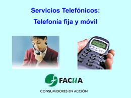 Servicios telefónicos - Revista El Observador